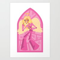 Angelbot Art Print