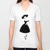 givenchy V-neck T-shirts featuring Funny face by Francisco Javier
