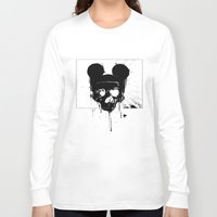 horror Long Sleeve T-shirts featuring Horror Mickey by Renars