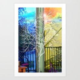 Outside View Art Print