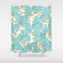 Paisley and Lacey Shower Curtain