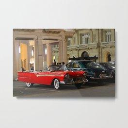 Cars in Havana Metal Print