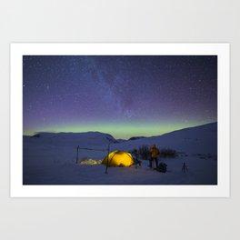 Polar night Art Print