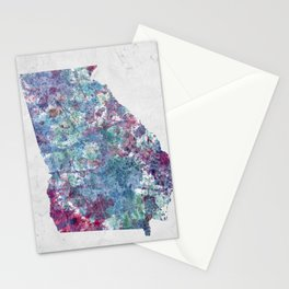Georgia map Stationery Cards