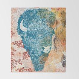 Blue Bison Throw Blanket