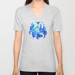 Blue Flower 2003 Unisex V-Neck