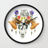 totes Wall Clocks featuring Totes Magotes by Ariana Victoria Rose