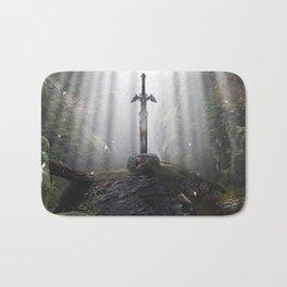Master Sword in Ruins (Breath of the Wild) Bath Mat