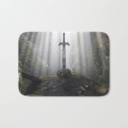 Master Sword in Ruins (Breath of the Wild) Bath Mat