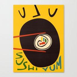 Yum Sushi Canvas Print