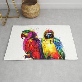 Rainbow Parrots Rug