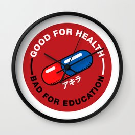 BAD FOR EDUCATION Wall Clock