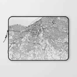 Cleveland White Map Laptop Sleeve