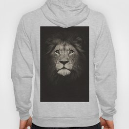 Portrait of a lion king - monochrome photography illustration Hoody