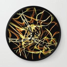 Hearts of Gold Warped Wall Clock
