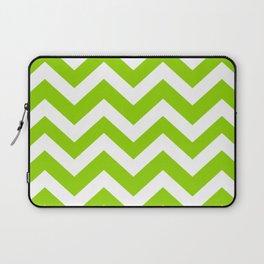 Sheen green - green color - Zigzag Chevron Pattern Laptop Sleeve