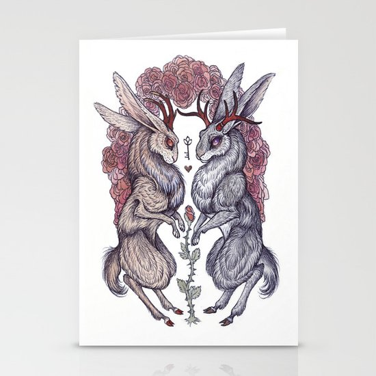 Rare Hearts Stationery Cards