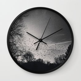 Bird Freckled Sky Wall Clock