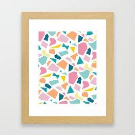 Jumpy -- abstract geometric preppy pastel bright pattern modern minimalist Framed Art Print