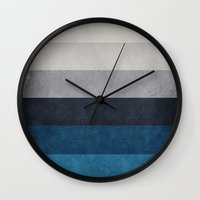 greece Wall Clocks featuring Greece Hues by Diego Tirigall