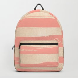 Painted Stripes Tahitian Gold on Coral Pink Backpack