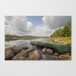 Perfect Boundary Waters Day Canvas Print