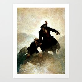 """Kidnapped"" Painting by NC Wyeth Art Print"