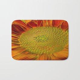 flower of sun (This Art work is in collaboration with the great artist designer Joe Ganech) Bath Mat