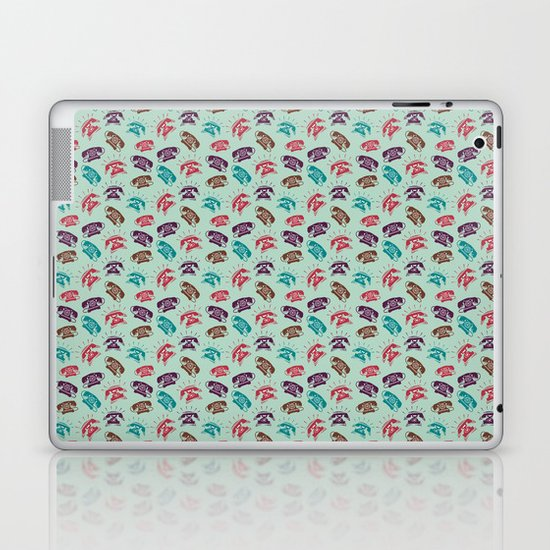 Retro Phones Laptop & iPad Skin