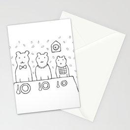 Three bears by poppyshome Stationery Cards