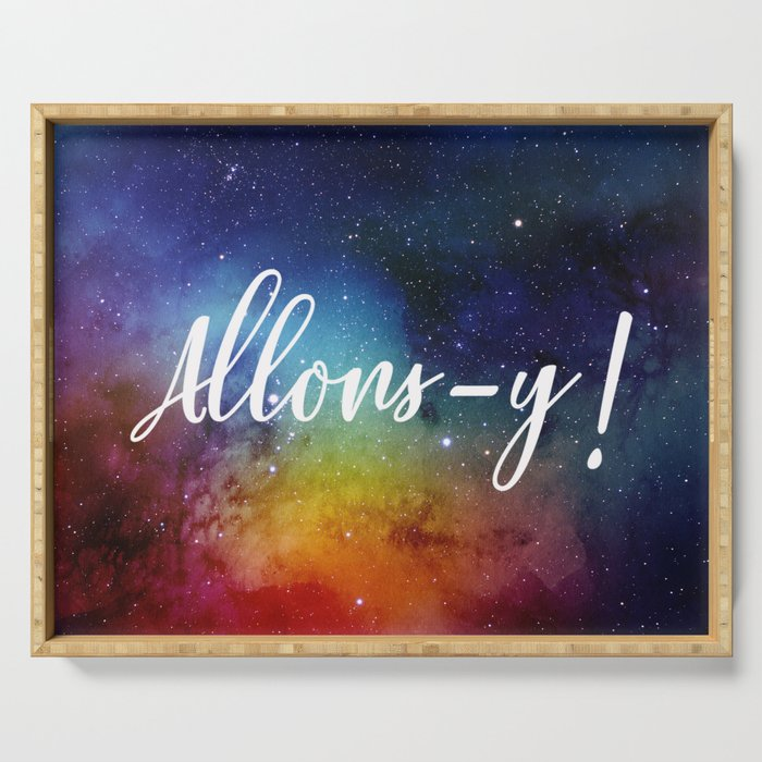 Allons-y! Serving Tray