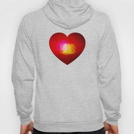 Red geometric burning heart Hoody