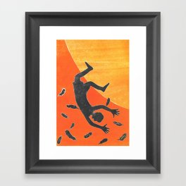 Icarus and Daedalus X Framed Art Print