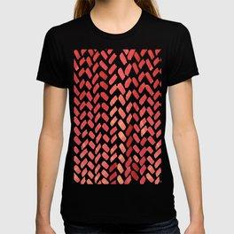 Cute watercolor knitting pattern - red T-shirt