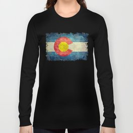 Colorado State flag, Vintage retro style Long Sleeve T-shirt