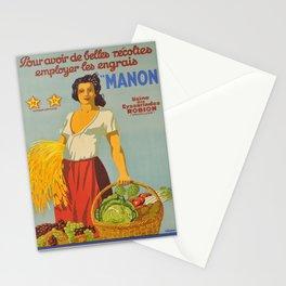 Werbeposter pour avoir de belles recoltes Stationery Cards