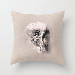 Decay Skull Light Throw Pillow