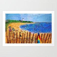 Summer down the Cape Art Print