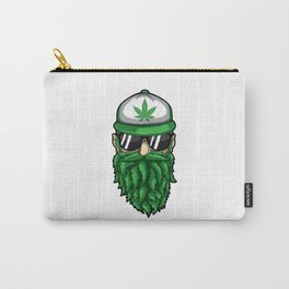 Beard from Cannabis Leaves - Weed Hipster Smoker Carry-All Pouch