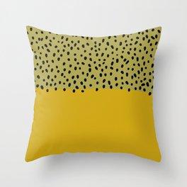 Abstract mustard mid century art Throw Pillow