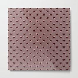 Hearts pattern III Metal Print