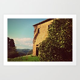Tuscany Italy Countryside With Villa Art Print