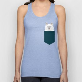 Roxie - White Birman Cat, Cute Kitten, White Cat Blue Eyes, Cell Phone Case, Cat Lady Gift Unisex Tank Top