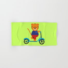 Tiger on Scooter Hand & Bath Towel