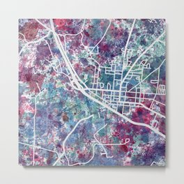 Bath map NY New York Metal Print