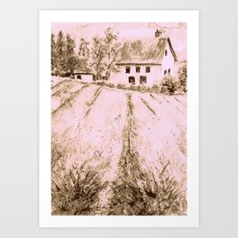 Countryside house- Provence Art Print