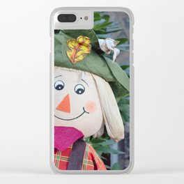 Smiling Scarecrow Clear iPhone Case