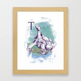 T Tortoise Framed Art Print