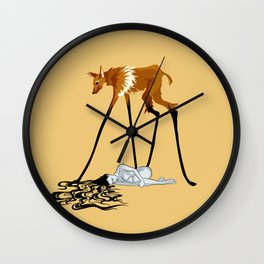 Fox & Girl Wall Clock