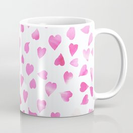Blush pink hand painted watercolor valentine hearts Coffee Mug